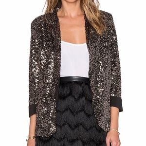 Sam Edelman Gold Sequin Blazer NWT